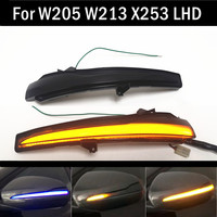 For Mercedes Benz C E S GLC W205 X253 W213 W222 V Class W447 Dynamic Turn Signal Blinker Sequential Side Mirror Indicator Light
