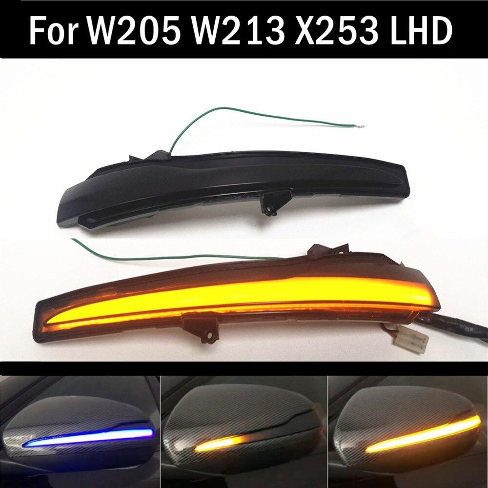 Pour Mercedes Benz C E S GLC W205 X253 W213 W222 V classe W447 clignotant dynamique clignotant séquentiel rétroviseur latéral