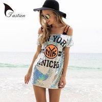 TASTIEN Summer Women New Fashion Long T Shirt Ladies Slash NeckT Shirt Free Size Sexy Short