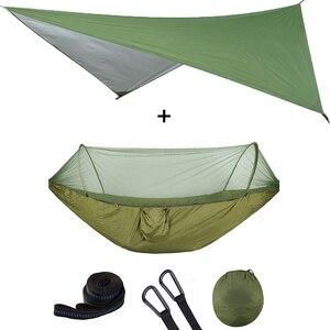 Image 4 - 屋外自動クイックオープン蚊帳ハンモックテント防水キャノピーオーニングセットハンモックポータブルポップアップ