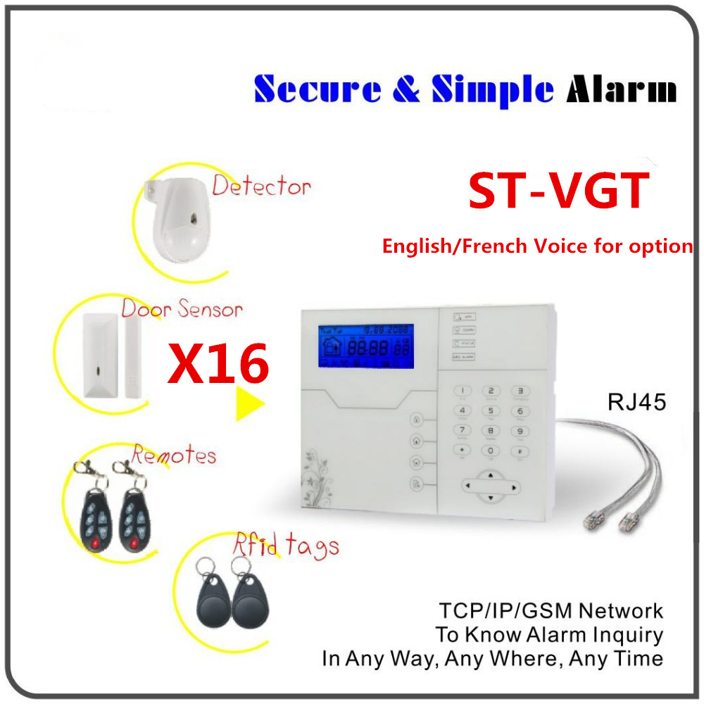 Best Alarm With Big Discount DIY KIT TCP IP Alarm GSM GPRS Alarm System Home Security Protection Alarm system цена