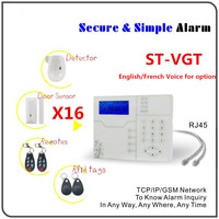 Best Alarm With Big Discount DIY KIT TCP IP Alarm GSM GPRS Alarm System Home Security Protection Alarm system