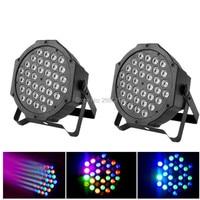 2pcs/lot Professional 36X3W RGB Flat Par LED Stage Lighting Effect DMX512 Master Slave LED Flat Light For DJ Disco Party KTV Bar