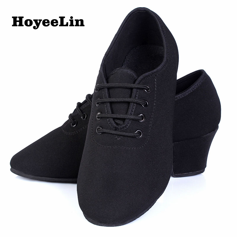 Image 5 - HoYeeLin Latin Tango Dance Practice Teacher Shoes Women Ladies Split Sole Ballroom Heeled 5cm Dancing Shoes-in Dance shoes from Sports & Entertainment on AliExpress