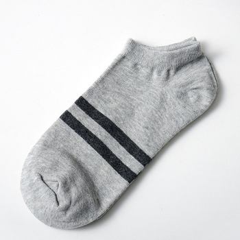 10pcs=5pairs Men's Socks Cotton Stripe Boat Socks All Seasons Spring Autumn Male Casual Harajuku Breathable Men Ankle Sock Meias