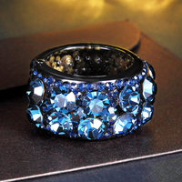 Chimera Blue Rhineshone Headband Hair Ring Rope Accessories Jewelry For Women Girls Ponytail Holder 3160062