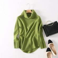 2017 High Quality Women Cashmere Knitted Sweater Turtleneck Winter Warm Pullovers 3Colors