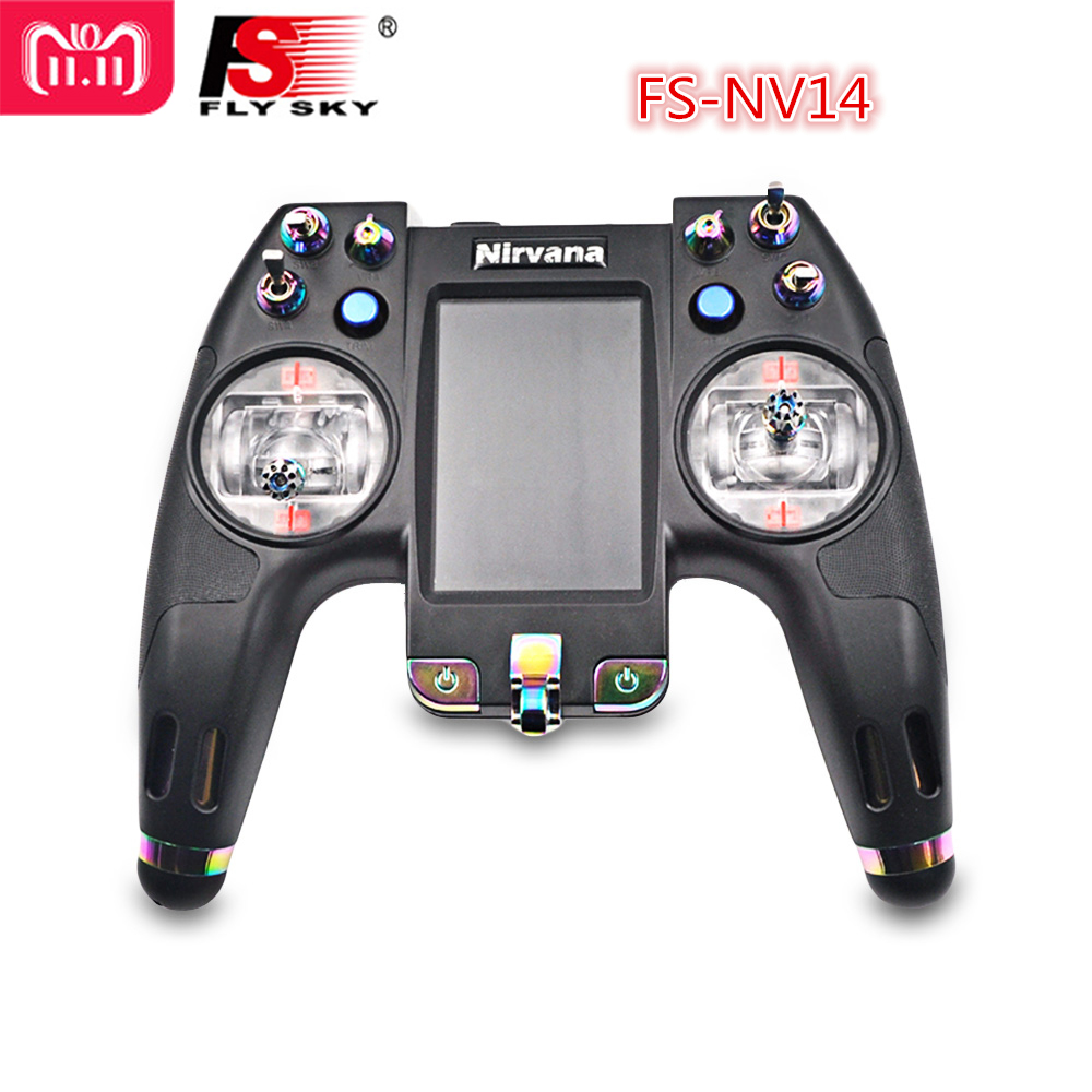 Flysky FS-NV14 2.4G 14CH Nirvana Transmitter Remote Control With IA8X Receiver For RC Helicopter Transmitter FPV Drone RC Car flysky fs nv14 2 4g 14ch nirvana remote controller transmitter open source with ia8x rx for fpv racing drone rc helicopter