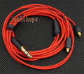 1.2m Custom Handmade Cable For Shure se535 se846 ue900 earphone headset Red Limited