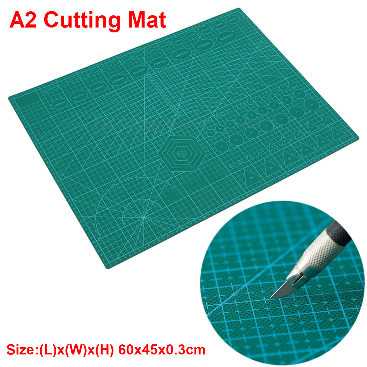 A2 PVC Double Printed Self Healing Cutting Mat Craft Quilting Scrapbooking Board 60*45cm <font><b>Patchwork</b></font> Fabric Paper Craft <font><b>Tools</b></font> image