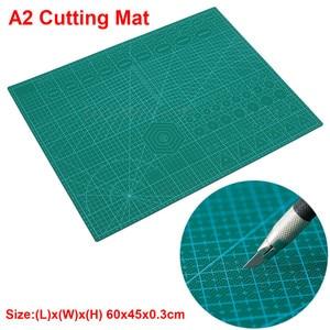 Image 1 - A2 PVC כפול מודפס ריפוי עצמי חיתוך מחצלת תפירה מלאכת רעיונות לוח 60*45cm טלאי בד נייר קרפט כלים