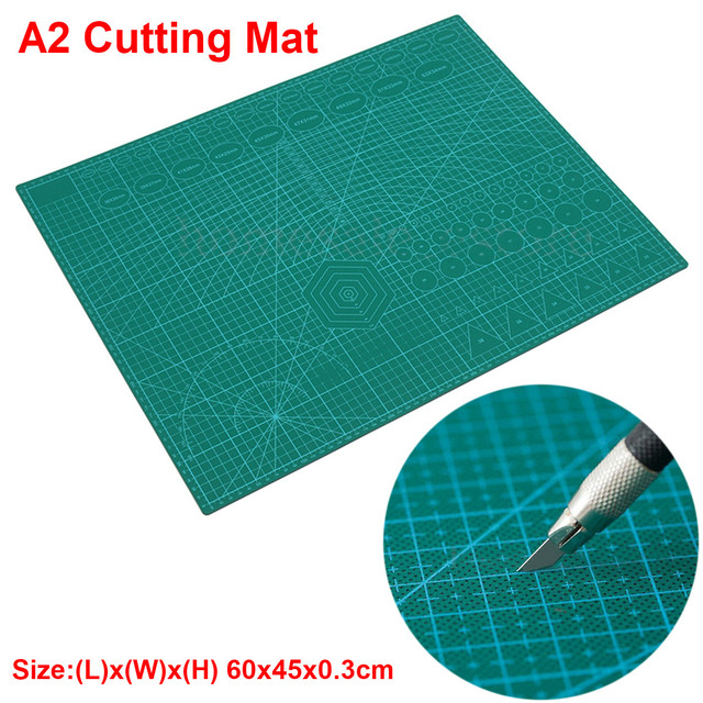 A2 PVC כפול מודפס ריפוי עצמי חיתוך מחצלת תפירה מלאכת רעיונות לוח 60*45cm טלאי בד נייר קרפט כלים