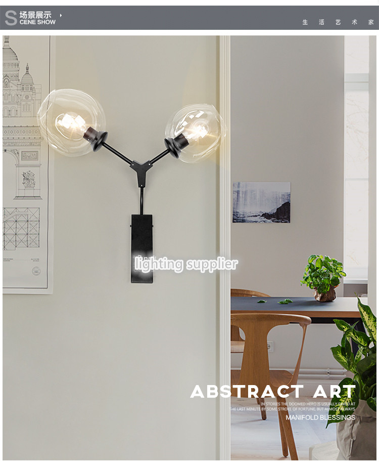 Contemporary and contracted outdoor living room balcony stair little words tube wall lamp of bedroom