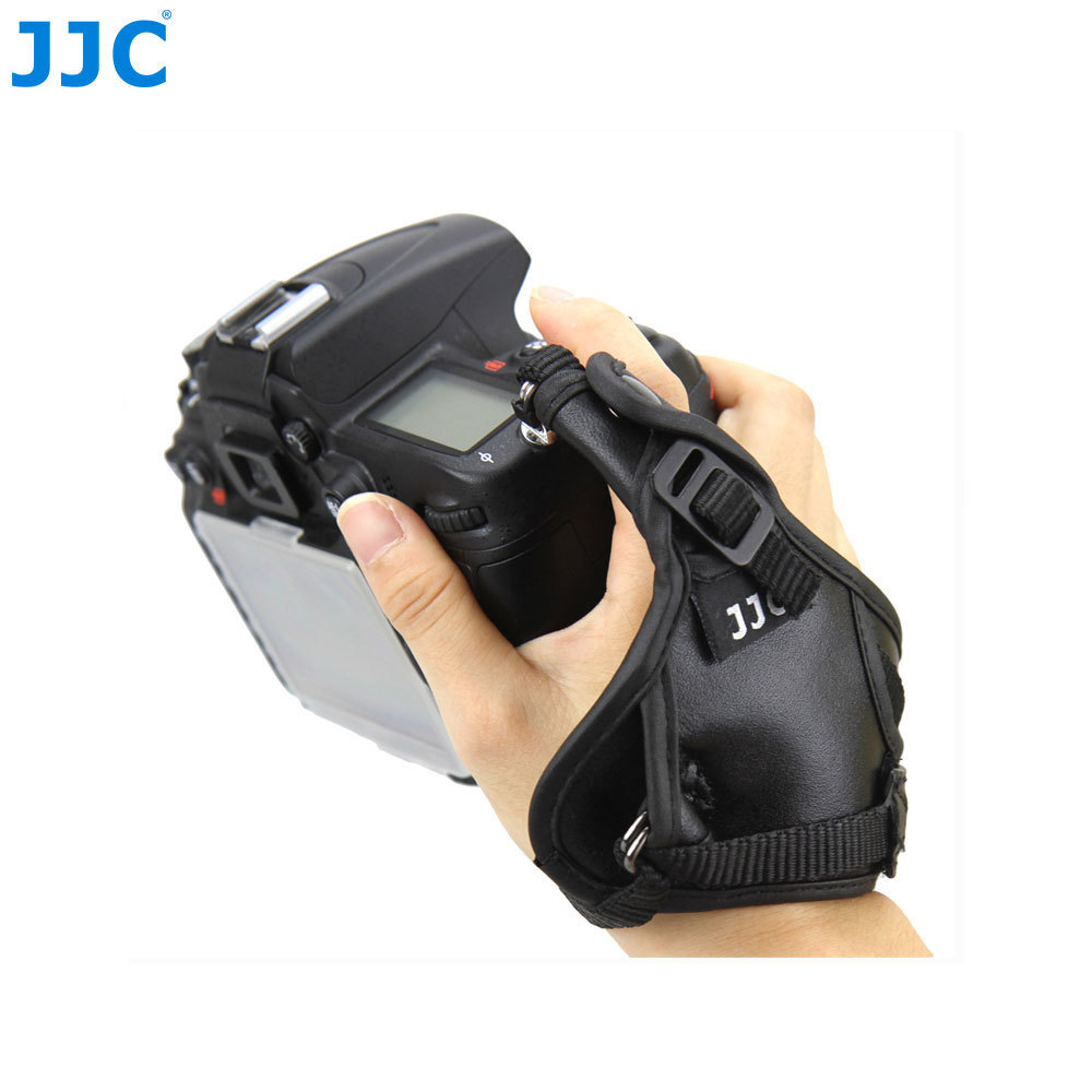 JJC Best Genuine Leather Hand Grip Strap Digital Camera Wrist Belt For Nikon D800 D3X D700 D300 D300S D5000 D200 D80 D60 As AH-4