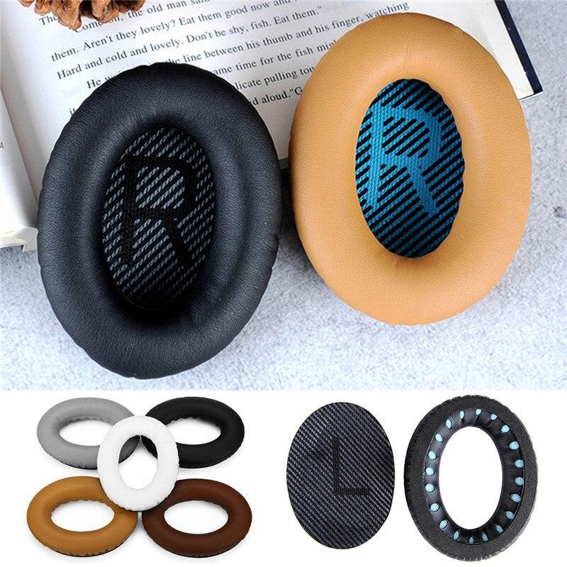 Pour BOSE QC2 QC25 QC35 QC15 AE2 1 paire de Remplacement Mousse Souple Noir Blanc Gris Café Kaki Éponge Casque Oreille pad Coussin