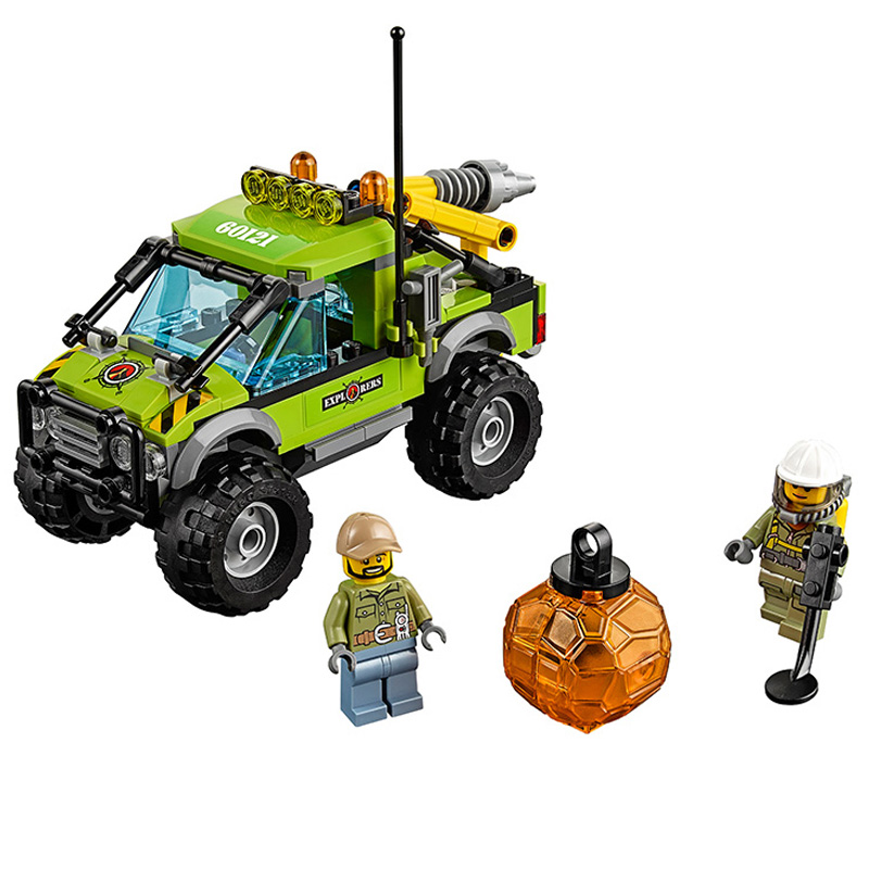 Lepin Pogo Bela City Urban Volcano Exploration Truck Geological Prospect Building Blocks Bricks Compatible Legoe Toys lepin 02012 city deepwater exploration vessel 60095 building blocks policeman toys children compatible with lego gift kid sets