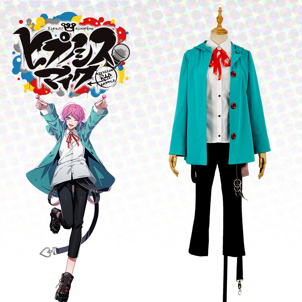 Japanese Voice Actor Division Rap Battle Fling Posse Ramuda Amemura easy R Green Uniform Outfit Cosplay