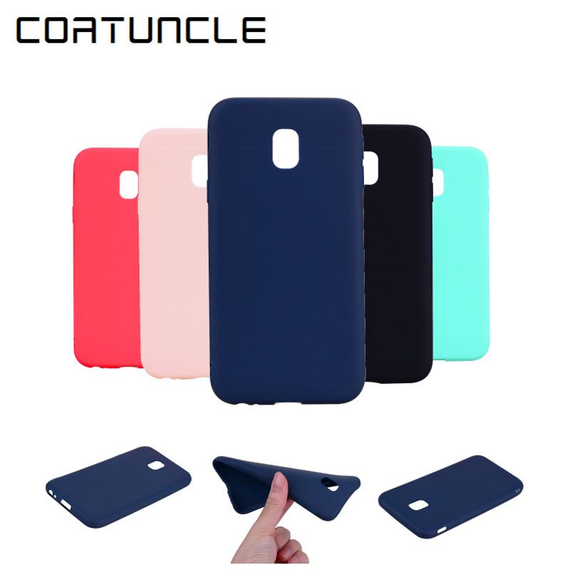COATUNCLE TPU Soft Cases For Samsung Galaxy J5 2017 Case Slim 360 Candy Color Silicon Back Cover For Samsung J5 2017 J530 Case