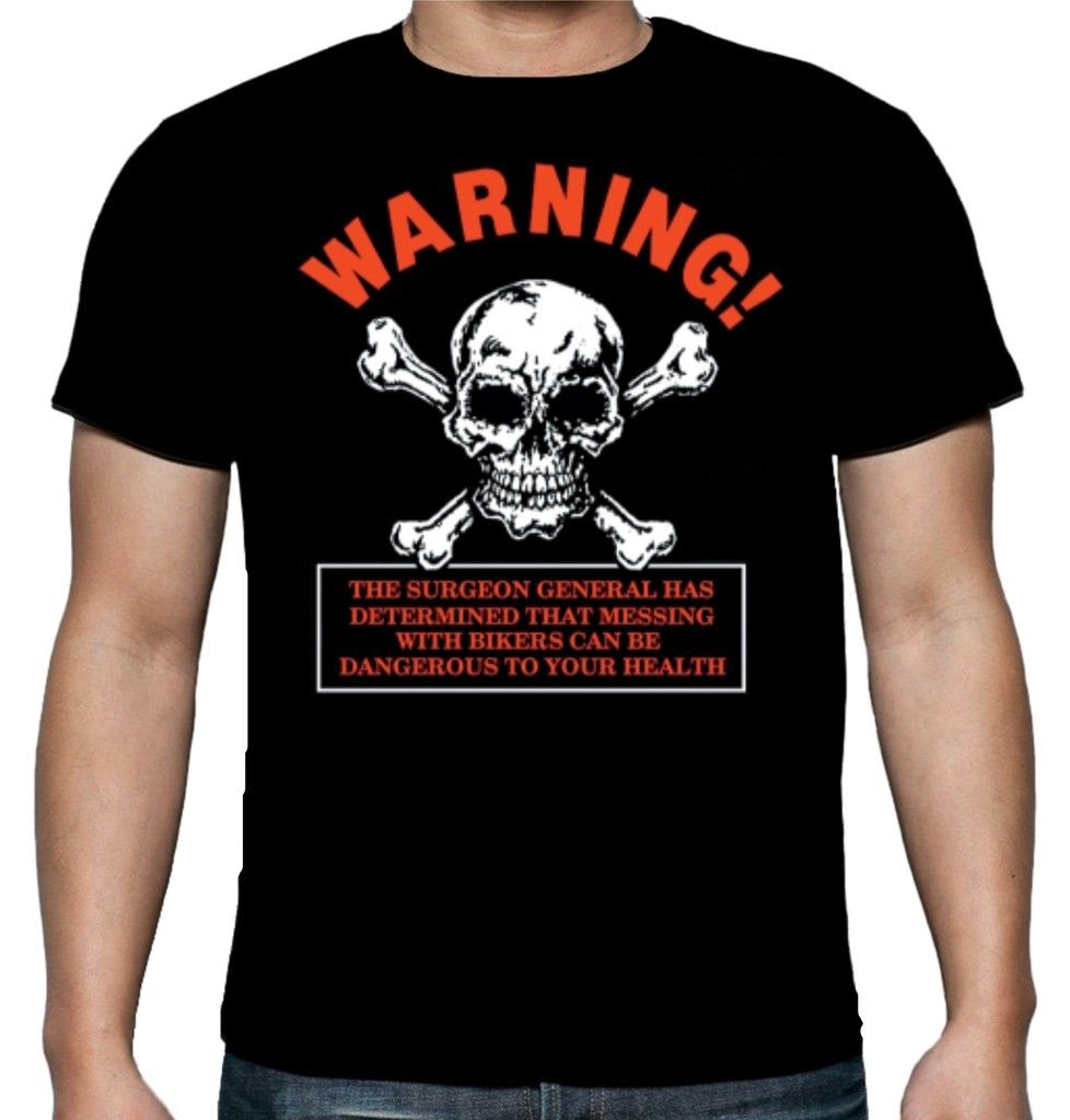 2019 Newest Letter Print Mens Biker Warning T Shirt Black White Motorcycle Funny 100% Cotton Geek Family Top Tee shirt