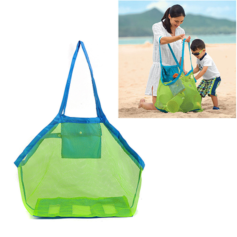 Practical Children Sand Away Beach Mesh Bag Storage Bags Children Beach Toys Clothes Towel Baby Toy Nappy Collection B