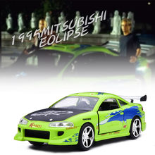 1:32 Mitsubishi 1995 Eclipse Pull Back Alloy Diecast Model Toys Car With Box for children(China)