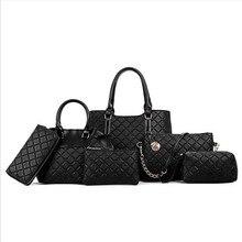 Handbag Set 6 Pcs Tote Bag Top Handle Shoulder Bag Purse for Women Buy one Get