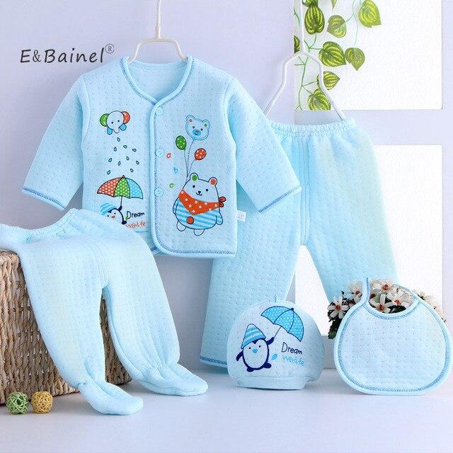 899429e0e1649 E   Bainel 5 pcs ensemble Épais Nouveau-Né Bébé Vêtements Ensembles Bébé  Filles