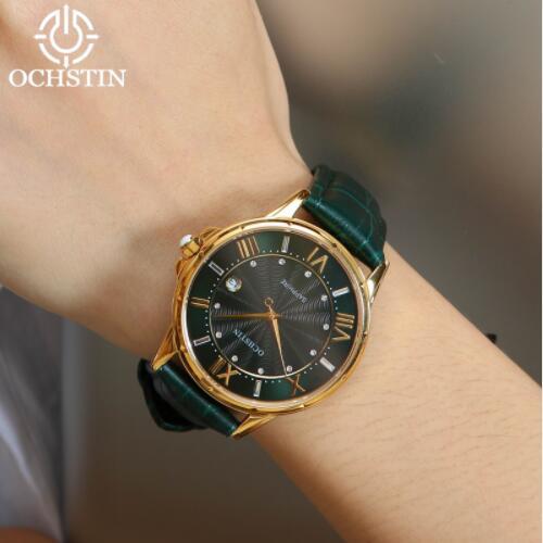 2019 femmes montres marque de luxe célèbre en cuir véritable japon mouvement montre-bracelet à Quartz femme automatique Date horloge Relogio Feminino - 6