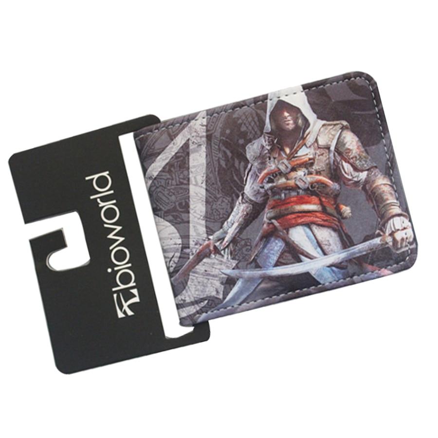 Ancient Costume Movie & Game Designer Leather Wallets ASSASSINS CREED Wallet For Men Women Vintage Dollar Price Bag Cool Purse