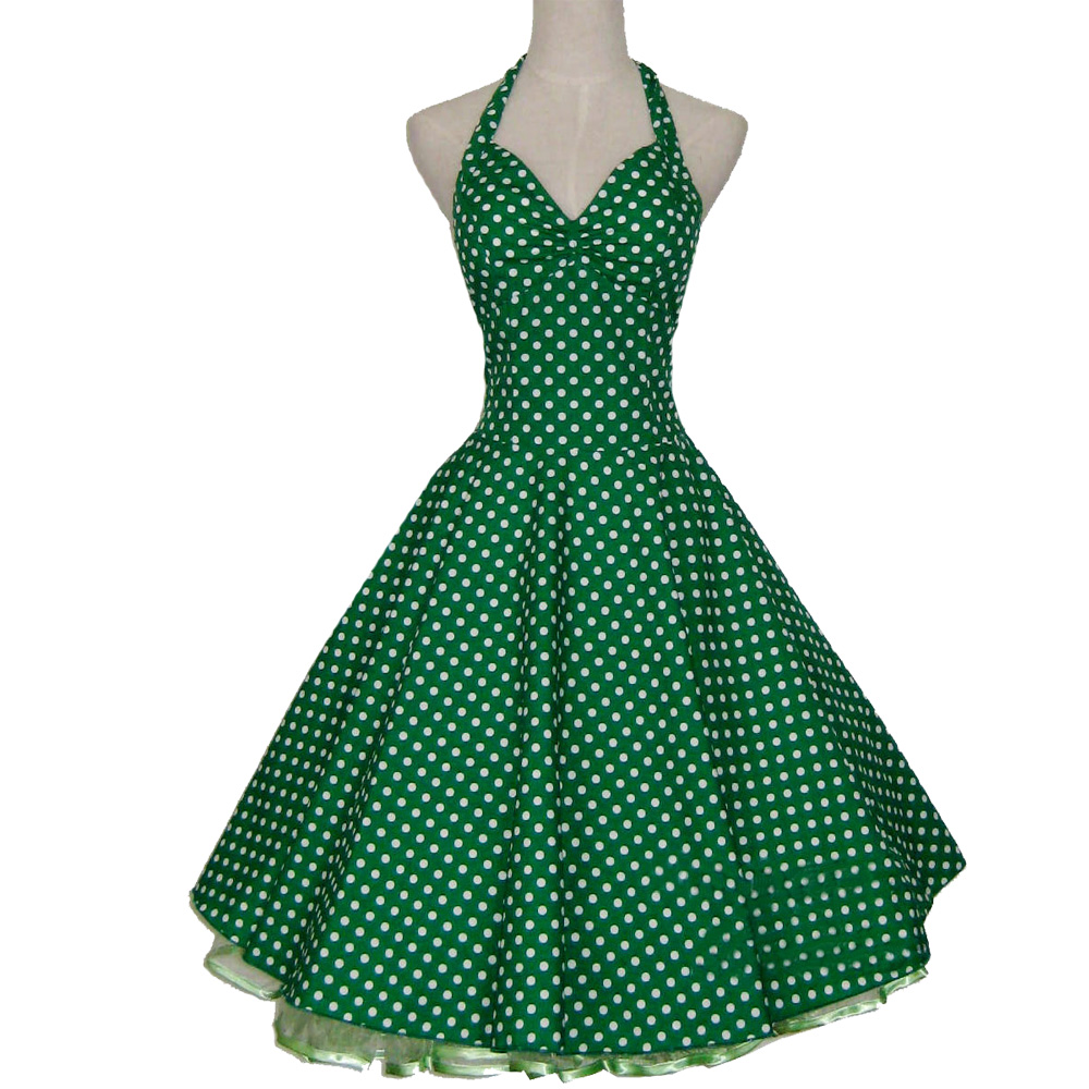 Dames Zomer 50s 60s Vintage Retro Rockabilly Jurk Vestidos Casual - Dameskleding