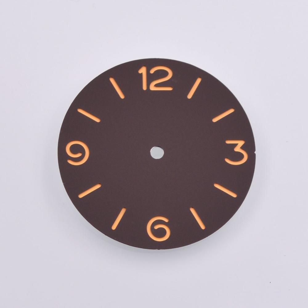 38.9mm Sandwich Pure Sterile Coffee watch Dial fit ETA 6497 6498 Movement Watch
