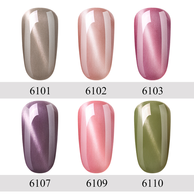 FairyGlo 10ML Nail Gel Varnish UV LED Cat Eye Gel Nail Polish Magnet Hybrid Varnish Lucky Lacquer Gel Stamping Primer Base Top