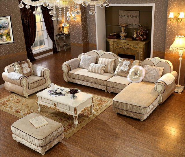 Armchair Beanbag Sectional Sofa New Arriveliving European Style Set Fabric Hot Low Price Factory Direct