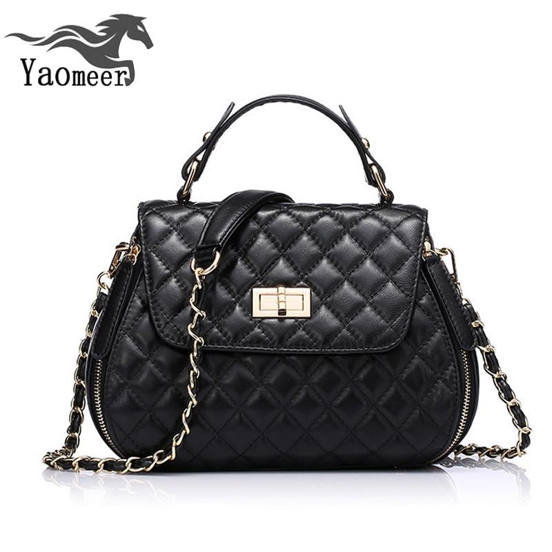 ФОТО Famous Brand Sheepskin Chain Quilted Bag Women's Genuine Leather Handbags Luxury Shoulder Messenger Women Bags Female Crossbody
