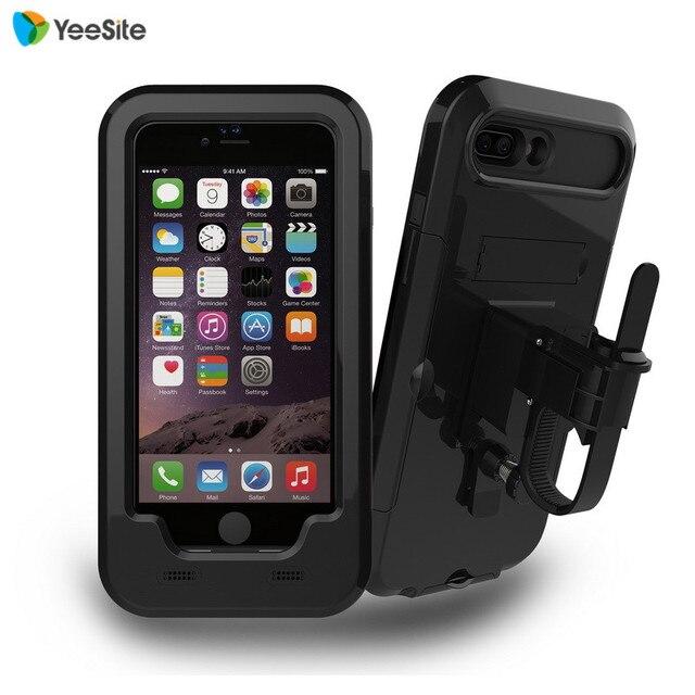 release date: 543aa 5506c US $18.69 |YeeSite New Waterproof Bike Handlebar Mount Holder Case for  iPhone 7 Plus Outdoor Sport Shockproof Motorcycle Bicycling Case-in Mobile  ...