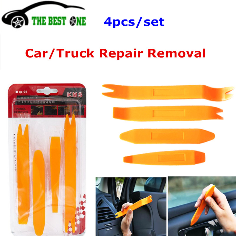 4Pcs Car Panel Removal Tool Door Trim Panel Tool Car Stereo Radio Pry Tools