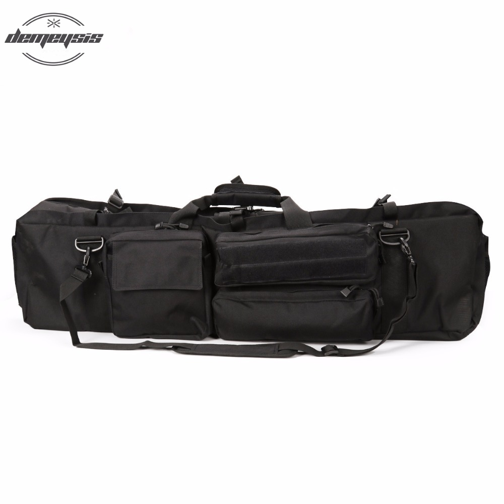 Black Men's Military Tactical Gun bag Outdoor Hunting Backpack Rifle Carry Tactical Rifle Bag Tactical Hunting Bag for M249