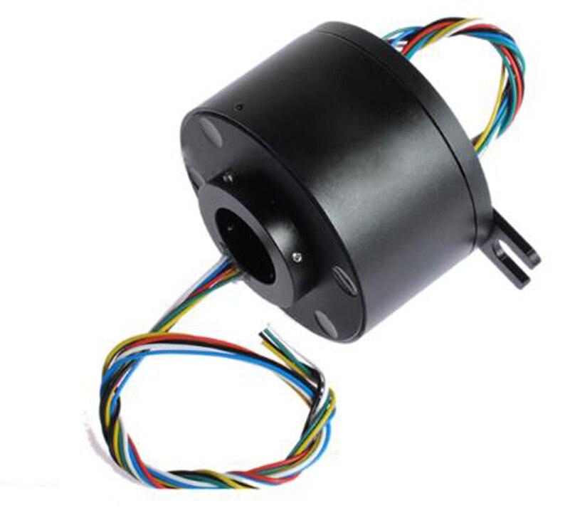 1pcs Integrated Hollow Shaft Slip Ring Hole Diameter 25 4mm External Diameter 86mm 6 12 18