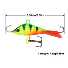 Goture 5pcs/lot Winter Ice Fishing Lure 53mm 7.37g Fake Lure Artificial Bait leurre Balancer for Fishing Carp Walleye Pike Perch