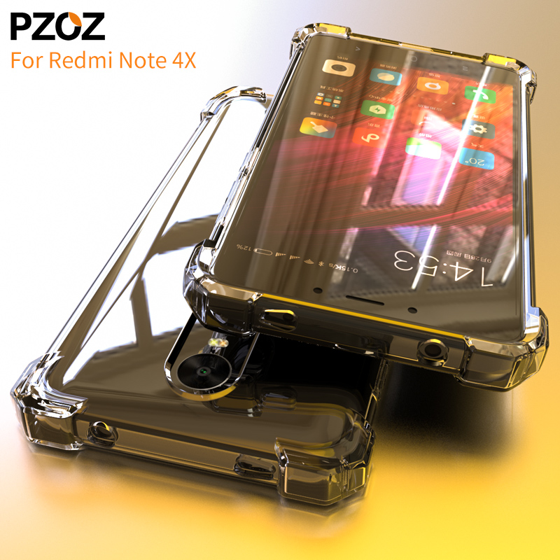 PZOZ redmi not 4x korpuslu silikon lüks Anti-knock xiaomi redmi note4x Cover Transparent Clear Clear qoruyucu xiomi not 4x 3gb 32gb