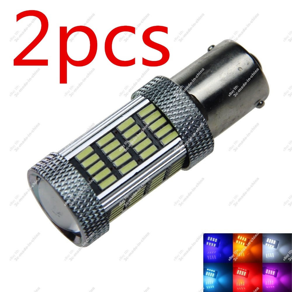 CYAN SOIL BAY Red Yellow Amber 1156 BA15S P21W 92 SMD 3014 LED Projector Lens Turn Brake Bulb 100W Bright Than 33 SMD Light