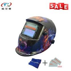 Darmowa wysyłka rodzaje przemysłowe kaski ochronne elektroniczne niestandardowe automatyczne przyciemnianie kask spawalniczy TRQ HD11 2233FF BG w Przyłbice spawalnicze od Narzędzia na
