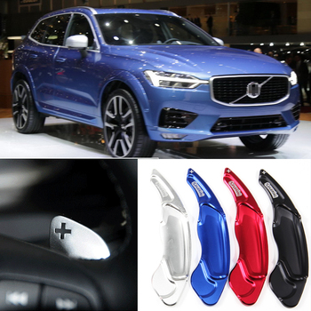 Tommia For Volvo XC60 2015-2017 2pcs Steering Wheel Aluminum Shift Paddle Shifter Extension Car-styling