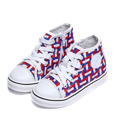 Nova primavera/outono crianças shoes meninos meninas de couro genuíno lace-up flats respirável tecido shoes crianças sapatilhas 03