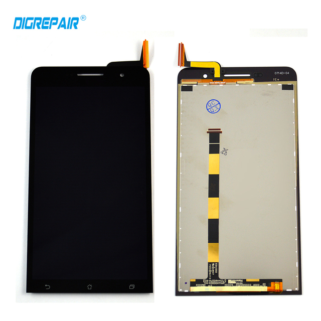 AAA New Black For Asus zenfone 6 LCD Display Touch Screen with Digitizer Full Assembly Replacement Parts,free shipping 100% test