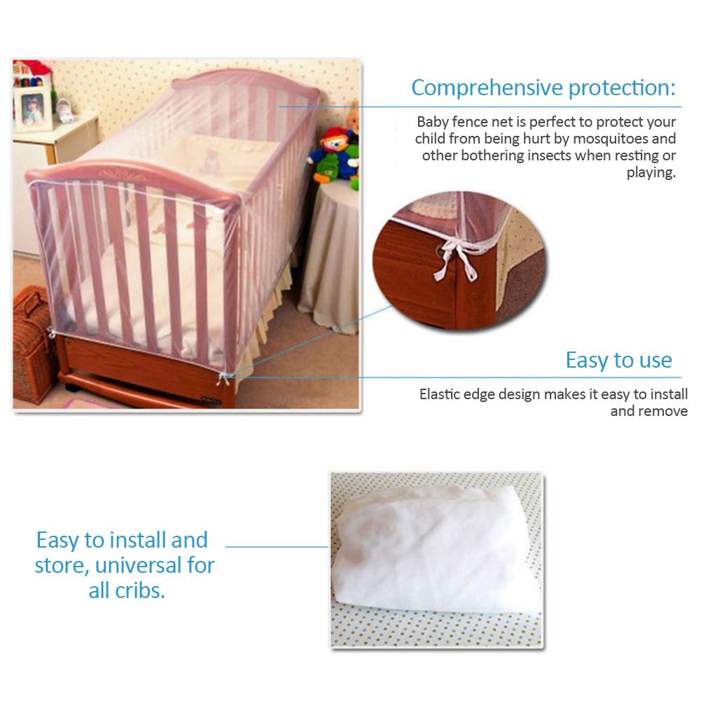 Baby Cot Mosquito Net Universal Easy Installation Protection Against Insects