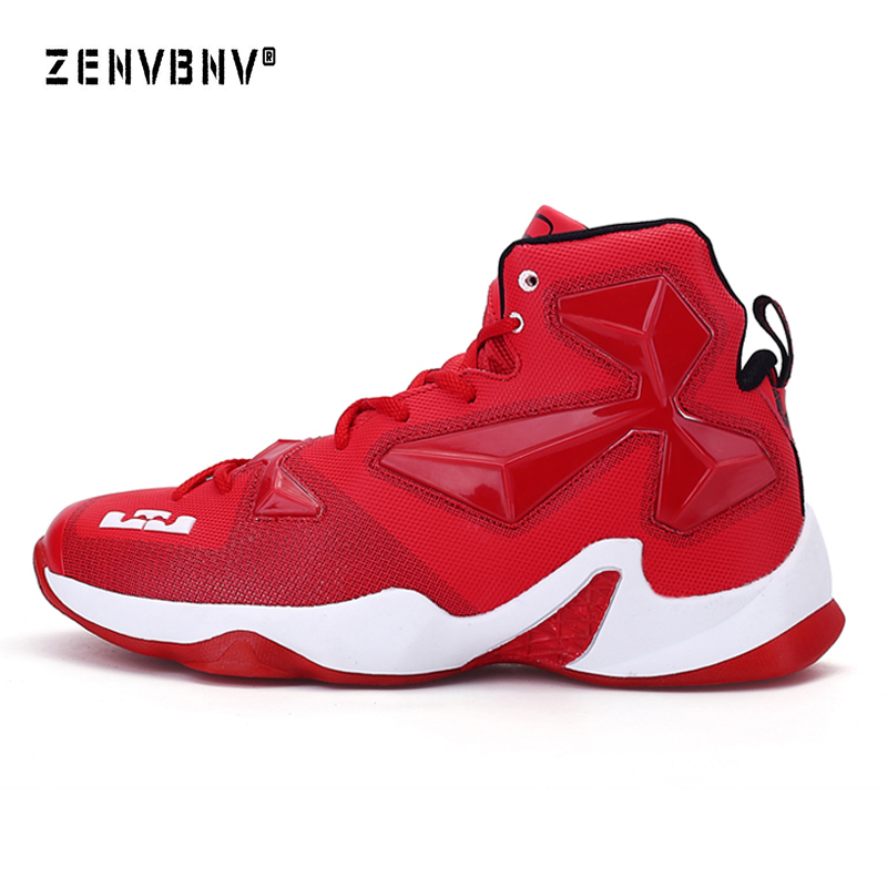 Zenvbnv Men Adult Boy High Quality Sneakers Black and White Basketball Boots Indoor Men Basketball Shoes Court Male Ankle Sheos