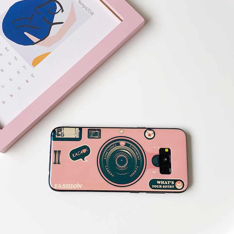 Dchziuan Stand Pemegang Case untuk Samsung Note 8 Lembut Pola Kamera Case untuk Samsung Galaxy S9 S8 Plus S9 PLUS ponsel Case Penutup