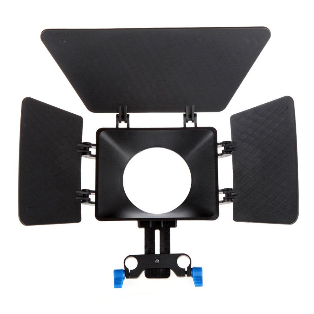 2x Горячая Новая Матовая Коробка Зонт для 15 мм Железнодорожный Род Поддержка DSLR 5DII 60D D90 550D 600D черный
