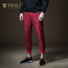Распродажа Mid Jogger Pinli весенние Горячие новые мужские украшения тела с принтом ног досуг девять минут брюки Tide B191217079